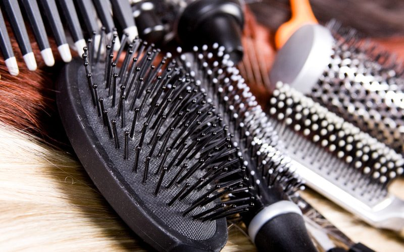 Photo of hair brushes.