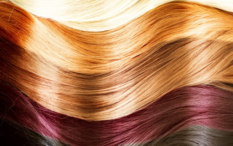 An image of different colored hair.